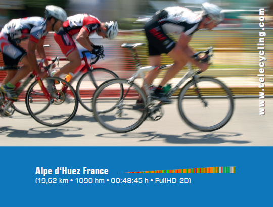 TeleCycling - Tour de France Alpe de Huez in FullHD auf USB 2D/3D