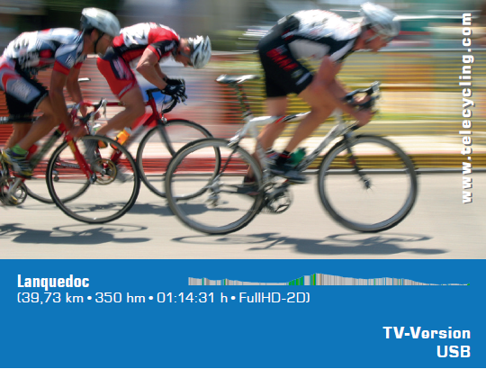 TeleCycling - Languedoc-Roussillon in FullHD 2D/3D incl. Trainingsanleitung