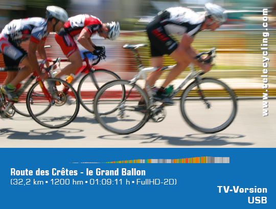 TeleCycling - Route des Cretes - le Grand Ballon in FullHD 2D/3D incl. Trainingsanleitung